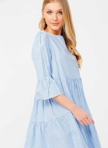 Limon Company Limon Mavi - Beyaz Elbise Mavi